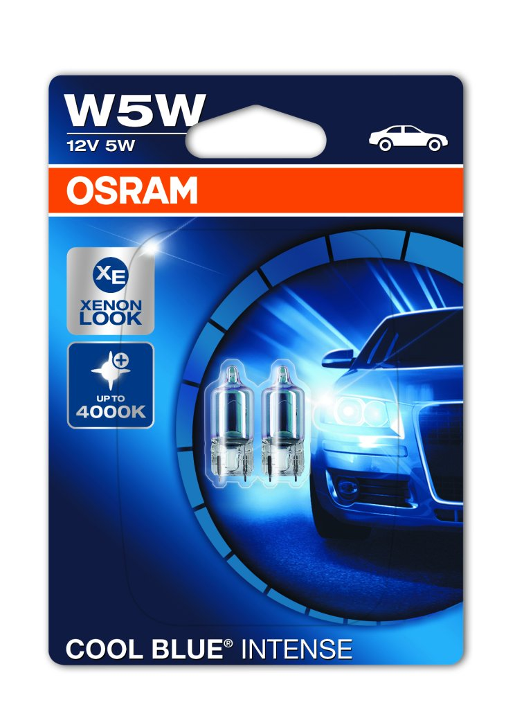 osram cool blue intense t10 w5w 12v 4000k xenon look. Black Bedroom Furniture Sets. Home Design Ideas
