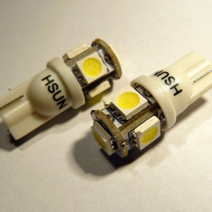 T10 (W5W) SMDX5 LED bijela