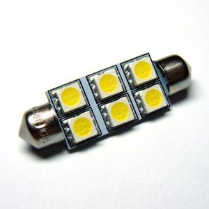 C5W SMDx6 LED 42mm