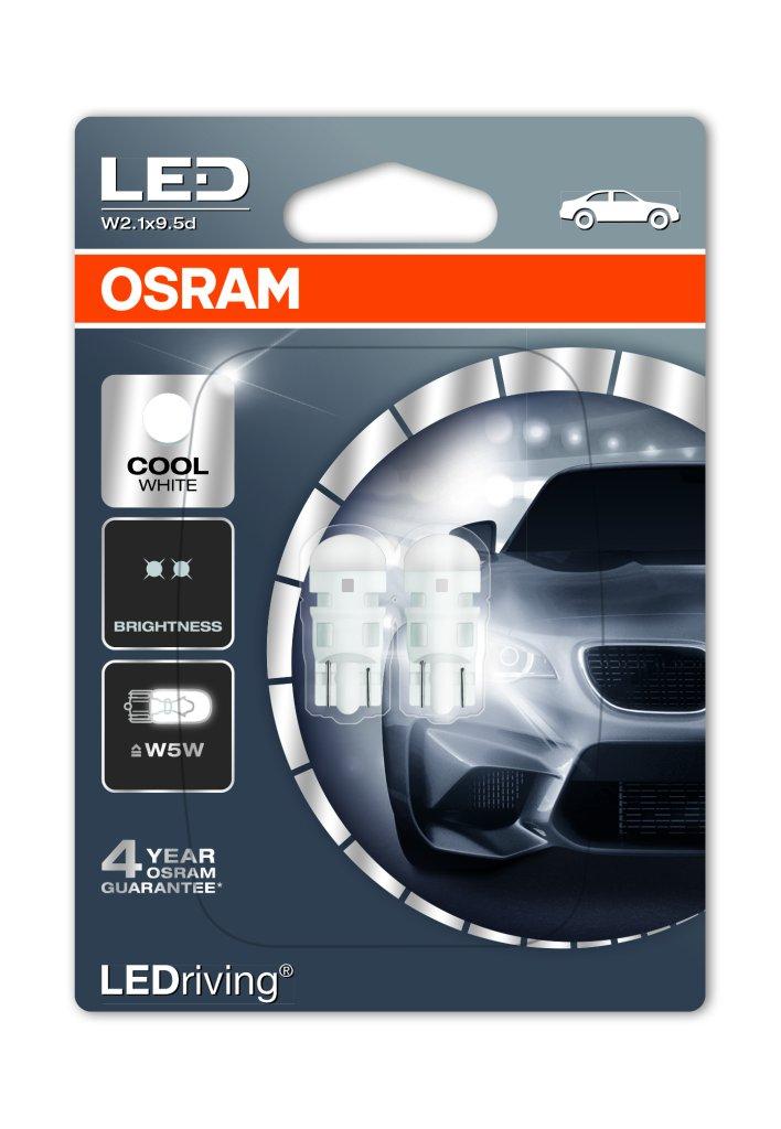 Automotive Light Bulbs >> Osram LEDriving Standard SL W5W (T10) LED bulbs - MK LED Auto/Moto rasvjeta