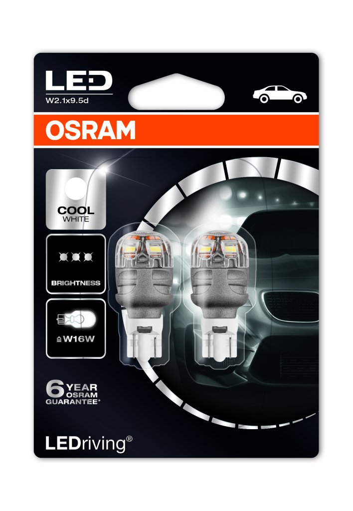 Osram Ledriving Premium Sl W16w Led Bulbs Mk Led Auto