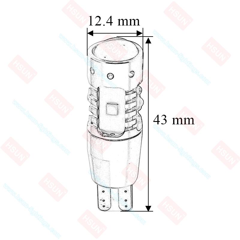 T10 T15 (W5W, W16W) CANBUS 30W High Power Cree LED žarulja