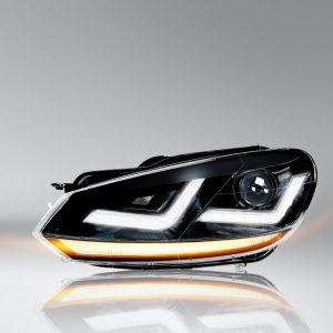 LEDriving XENARC Golf VI BLACK headlights LED signal light and LED position light