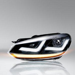 LEDriving XENARC Golf VI Chrome headlights LED signal light and LED position light