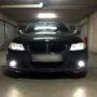 BMW E90 LED markers + HB4 V10 fog lamps