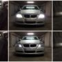 BMW E90 MK1 LED low beam & position + cool blue boost high beam collage