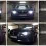 BMW F30 Lumileds K6F LED low beam + V10 LED high beam + PW24W LED DRL + H6W LED position bulb collage