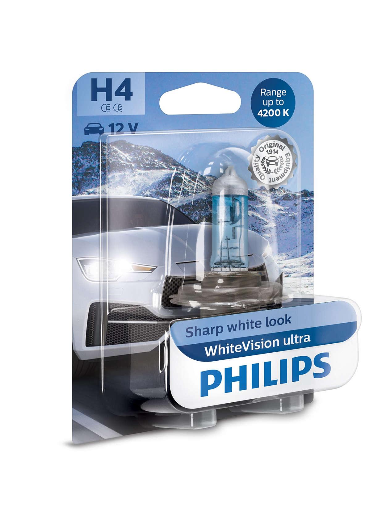 philips white vision ultra h4 h7 do 60 vi e svjetla. Black Bedroom Furniture Sets. Home Design Ideas