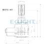 V13 H8 H9 H11 H16 LED bulb dimensions
