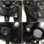 Triumph Tiger 800 with Osram LEDriving H4 bi-LED kit 6726CW installation collage