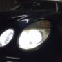 Mercedes E class W211 H7 M8X LED low beam + T10 CANBUS position bulbs close up