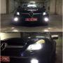 Mercedes SL 350 R230 FL V10 LED fog lamps + T10 CANBUS position bulbs collage 2