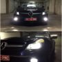 Mercedes SL 350 R230 FL V10 LED fog lamps + T10 CANBUS position bulbs collage 2