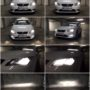 Seat Leon 5F Osram LEDriving H7 low beam + P21W DRL + V10 H7 high beamd + V12 H8 fog lamps collage