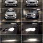 Seat Leon 5F Osram LEDriving H7 low beam + P21W DRL + V10 H7 high beamd + V12 H8 fog lamps collage