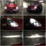 Alfa Giulietta H7 M8X LED low beam + H1 V12 LED high beam collage