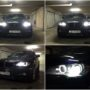 BMW X6 E71 Yeaky D1S 5500K Xenon bulbs + V10 H8 LED angel eyes collage 2