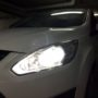 Ford CMax H7 M8X LED low beam + W5W Osram Standard LED position light close up