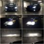 BMW E60 Yeaky D1S 5500K bi-xenon + V12 H7 LED high beam + V10 HB4 LED fog lamps + LED angel eyes + PY21W Osram Premium LED side indicators collage