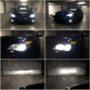 BMW E60 Yeaky D1S 5500K bi-xenon + V12 H7 LED high beam + V10 HB4 LED fog lamps + LED angel eyes + PY21W Osram Premium LED side indicators collage