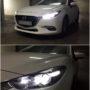 Mazda 3 BM M8X H11 LED low beam + Osram Standard T10 LED position bulbs collage