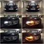 VW Passat B8 WY21W LED side indicators + T10 LED position bulb +W21W Osram Premium DRL collage