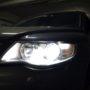 VW Touareg 1 FL H7 M8X low beam + W5W CANBUS LED position bulb close up 1