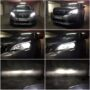 Peugeot 3008 FL Osram LEDriving H7 gen2 low beam + V12 HB3 high beam collage