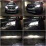 Peugeot 3008 FL Osram LEDriving H7 gen2 low beam + V12 HB3 high beam collage