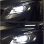 Volvo C30 H7 V6 LED low beam + W5W SMDx5 LED position bulbs collage 2
