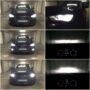 Audi A3 8V H7 Osram LEDriving Gen2 low beam + H15 V10 LED high beam & DRL + W5W CANBUS LED position lights + H8 V10 LED fog lamps collage