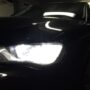Audi A3 8V H7 Osram LEDriving Gen2 low beam + W5W CANBUS LED position lights close up 2