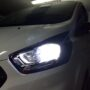 Ford Transit custom H7 V13S LED low beam + Osram LEDriving standard position lights front