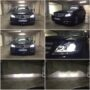 Mercedes Benz C W204 with H7 V6 bi-LED low high beam collage