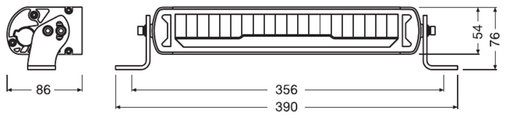 LEDriving  Lightbar MX250-CB LEDDL110-CB