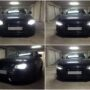 Audi A4 B8 Osram LEDriving HL H7 low beam + Osram LEDriving SL P13W DRL parking lights collage 1