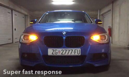 BMW 1 F21 sa plug & play PY21W (BAU15S) LED žmigavcima