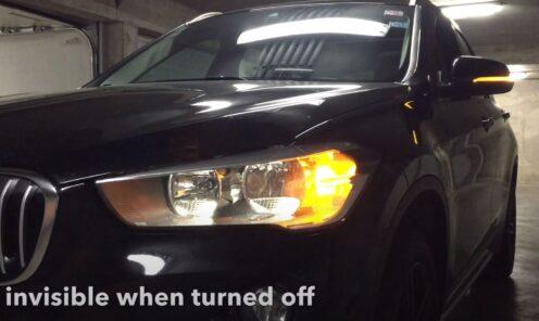 BMW X1 F48 sa plug & play PY21W (BAU15S) LED žmigavcima