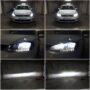 VW Golf 7.5 V13S H7 LED low beam + V12 H9 LED high beam collage