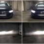 VW Passat B8 Osram LEDriving HL H7 Gen2 low beam + V12 H9 high beam collage