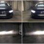 VW Passat B8 Osram LEDriving HL H7 Gen2 low beam + V12 H9 high beam collage