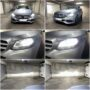 Mercedes Benz C W205 Philips Ultinon Essential H7 LED low beam + V12 LED high beam collage