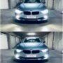 BMW 3 F31 Osram LEDriving Gen2 H7 low beam + V12 LED fog lights + H6W LED position light collage