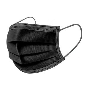 troslojna jednokratna crna zastitna maska za lice