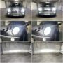 Mini Cooper R50 Philips Ultinont Essential H7 low beam + V10 H7 high beam + W5W CANBUS position lights collage