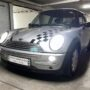 Mini Cooper R50 Philips Ultinont Essential H7 low beam + W5W CANBUS position lights side 1