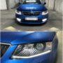 Škoda Octavia 3 LC Combi T10 LED position lights + V10 H8 LED fog lamps collage