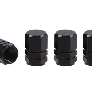 Aluminium Black Valve cap 4 pcs 02237 1