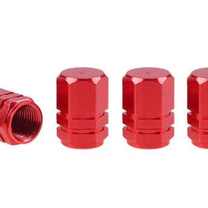 Aluminium valve cap red 4 pcs 02238 1