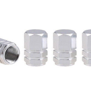 Aluminium valve cap silver 4 pcs 02236 1